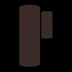 Bezdrátový magnetický kontakt na okno / dveře mikro, 1 x 3 V bat (3 až 8 let), 433MHz protokol 80+, 65 x 25 x 8 mm, mahagonový , 0 - + 49 ° C