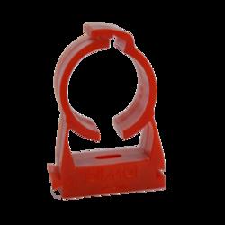 Příchytka trubky červená - Closed Pipe Clip - 25 ks