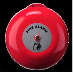 Požární zvon červený 150mm, 95dB, 24V/20mA, IP21C
