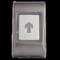 Dotykové kapacitní odchodové tlačítko, na omítku, samostatné, 2-barevná LED + bzučák, tamper, 3/5/10 sek puls nebo Zap / Vyp režim, NC / NO 24 V / 2A, podsvícení, kabel 1m, 12 - 24 Vss / 15 - 24 Vstř / 65 mA, 51 x 92 x 25 mm, -20 - + 50 ° C, IP65, šedá