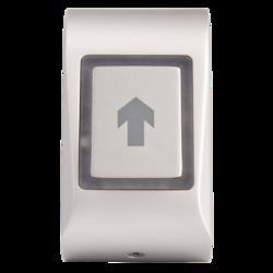 Dotykové kapacitní odchodové tlačítko, na omítku, samostatné, 2-barevná LED + bzučák, tamper, 3/5/10 sek puls nebo Zap / Vyp režim, NC / NO 24 V / 2A, podsvícení, kabel 1m, 12 - 24 Vss / 15 - 24 Vstř / 65 mA, 51 x 92 x 25 mm, -20 - + 50 ° C, IP65, stříbrn