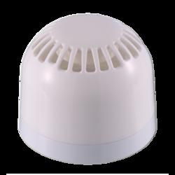 Požární siréna bílá, 24V, 100dB, IP21, nízká základna
