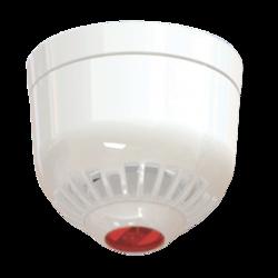Siréna s LED majákem na strop, EN54-23, IP21, bílá