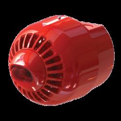 Siréna s LED majákem na stěnu, EN54-23, IP65, červená