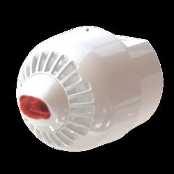 Siréna s LED majákem na stěnu, EN54-23, IP65, bílá