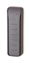 Čtečka Secure ATS karet - úzká, na sběrnici ATS, 13,56 MHz, Mifare DESFire EV1 / EV2, šifrovaná AES komunikace s ATSx500, plast, 1 x OC výstup, 1 x RTE vstup, 3x LED, kabel 2 m, komunikace RS485, IP67, IK-09, -40 - +55 ° C