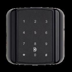 Čtečka Secure ATS karet s PIN (dotyková) - čtvercová, na sběrnici ATS, 13,56 MHz, Mifare DESFire EV1 / EV2, šifrovaná AES komunikace s ATSx500, plast
