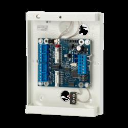 Modul rozšíření 8-16 vstupů a 8 výstupů (16) pro zapojení na sběrnici ATS. Modul má přední i zadní tamper. Je v kovové skříni ATS1643