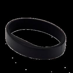 Silikonový náramek v černé barvě (5ks v balení) - 1