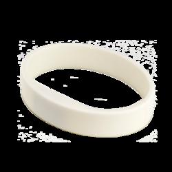 Silikonový náramek v bílé barvě (5ks v balení) (ATS1458W) - 1
