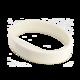 Silikonový náramek v bílé barvě (5ks v balení) (ATS1458W) - 1/2