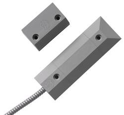 Magnetický kontakt průmyslový pro kovové vrata,  šedý