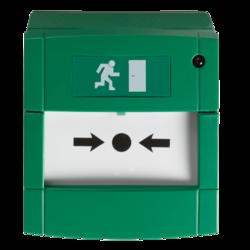Tlačítkový hlásič řady 2000, montážní krabička, zelený