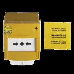 Tlačítkový hlásič řady 2000, montážní krabička, žlutý