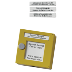 Žlutý tlačítkový. hlásič kovový, 100ohm,spuštění SHZ