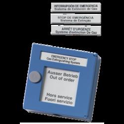Modrý tlačítkový. hlásič kovový, 100ohm, pozastavení SHZ