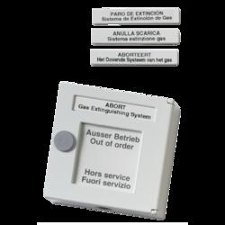 Bílý tlačítkový. hlásič kovový, 100ohm,zastavení SHZ