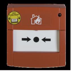 Tlačítkový konvenční požární hlásič s LED indikací, sklo