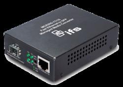 1-Port 10/100Base-Tx Copper + 1-Port SFP Managed Media Converter (0~50℃) - Power 5V DC - Stand-alone or Rack Mount - accepts SFP Port 100Base-SX/FX/BX/LX only - 1