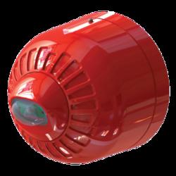 Maják LED, červený na stěnu, 24V/20mA, IP21, EN54-23