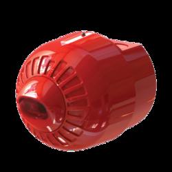 Maják LED, červený na stěnu, 24V/20mA, IP65, EN54-23 W2,