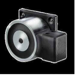 Dveřní magnet 400N,čtvercová základna, kotevní deska