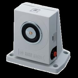 Dveřní magnet, VdS, 490N, montáž na podlahu, tlačítko