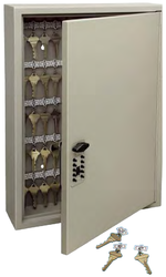 Trezorová skříň - Key Cabinet Pro - s kódovým zámkem pro 60 klíčů - Hnědá - 1