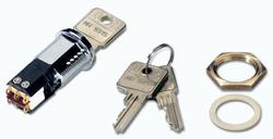 Klíčový spínač, sepnuto/rozepnuto (dvoupolohový)