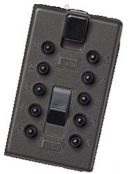 Náhradní přední kryt s kódovou klávesnicí StrongBox - Černá