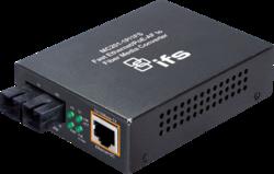 1-Port  10/100Base-Tx IEEE802.3af Copper + 1-Port  100Base-FX (15Km) Single-Mode Fiber Unmanaged Media Converter (SC connector) (1x 15,4W PoE Budget)(0~50℃) - Power 48V DC - Stand-alone - 1