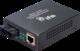 1-Port  10/100Base-Tx IEEE802.3af Copper + 1-Port  100Base-FX (15Km) Single-Mode Fiber Unmanaged Media Converter (SC connector) (1x 15,4W PoE Budget)(0~50℃) - Power 48V DC - Stand-alone - 1/2