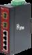 4-Port 10/100Base-Tx Copper + 2-Ports SFP Fiber Unmanaged Media Converter (-40~75℃) - Power 12-48V DC - Din rail or Wall Mount  - accepts SFP Port 100Base-SX/FX/BX/LX only - 1/2