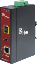 1-Port 10/100/1000Base-T Copper + 1-Port SFP Managed Media Converter (-30~75℃) - Power 12-48V DC - Din rail or Wall Mount -  accepts SFP Port 1000Base-SX/BX/LX/LHX/ZX only - 1