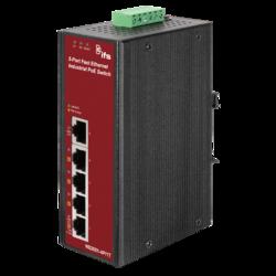 4-Port 10/100Base-Tx  IEEE802.3af Copper Ports  + 1-Port 10/100Base-Tx  Unmanaged Fast Ethernet Switch (4x 15,4W PoE budget)(-40~75°C)  - Power 24-48V DC or 24V AC - 1