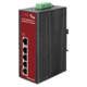 4-Port 10/100Base-Tx  IEEE802.3af Copper Ports  + 1-Port 10/100Base-Tx  Unmanaged Fast Ethernet Switch (4x 15,4W PoE budget)(-40~75°C)  - Power 24-48V DC or 24V AC - 1/2