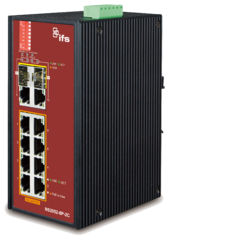 8 Port Unmanaged POEat Industrial Switch with 2 SFP ports