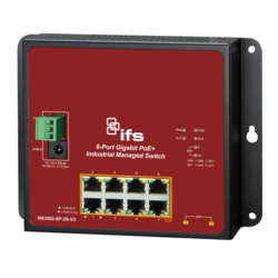 INDUSTRIAL 8-PORT 10/100/1000T 802.3AT POE PLUS 2-PORT 100/1000X SFP WALL-MOUNT MANAGED SWITCH (-40 TO 75 DEGREES C)