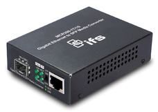 1-Port 10/100/1000Base-T Copper + 1-Port SFP Unmanaged Media Converter (0~50℃) - Power 5V DC - Stand-alone or Rack Mount - accepts SFP Port 1000Base-SX/BX/LX/LHX/ZX only - 1