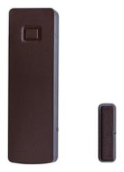 Bezdrátový magnetický kontakt na okno / dveře hnědý, 433MHz