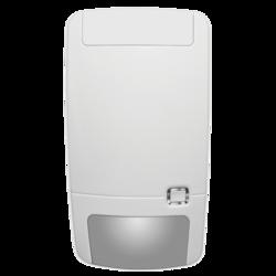 Bezdrátový duální PIR / MW detektor odolný vůči zvířatům (35 cm / 18 kg), 433 MHz protokol 80+, patentovaná zrcadlová optika s plovoucím ohniskem, 12/9/6/4 m - 86 ° 9 záclon + spodní snímání, 2 x 3V (3 roky), IP30, IK02