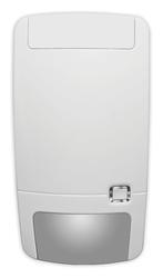 Bezdrátový PIR detektor odolný vůči zvířatům, 868 MHz Gen2, patentovaná zrcadlová optika s plovoucím ohniskem, 12/6 m - 86 ° 9 záclon + spodní snímání, 2,3 - 3 m mont. výška, 1 x 3V (5 let), 130 x 69 x 53 mm, -10 - + 55 ° C, IP30, IK02