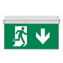 Oboustranný panel pro značení evakuační cesty dolu