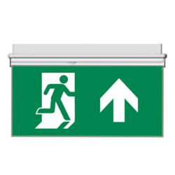 Oboustranný panel pro značení evakuační cesty nahoru