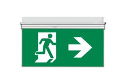Oboustranný panel z 6mm PVC pro značení směru únikového východu - 1