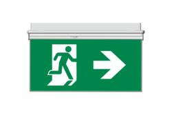 Oboustranný panel z PVC pro značení únikového východu - směr vpravo