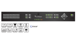 TruVision NVR 11, 4 channels, 4 channel PoE, 40 Mbps, 1T