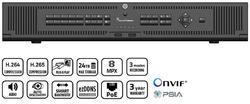 TruVision NVR 22P, H.265, 64 channel IP, 2U, 24TB (6x 4T