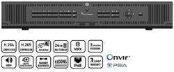 TruVision NVR 22P, H.265, 64 channel IP, 2U, 12TB (3x 4T