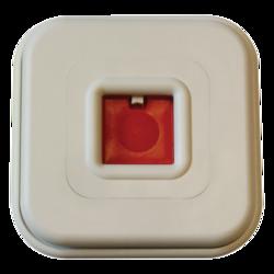 Tísňové tlačítko mechanické s přepínacím kontaktem, bílé